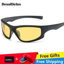 цены на 2019 New Polarized SunglasseS Men UV400 Anti-glare Sun Glasses Black PC Frame Outdoor Sport Goggles De Sol Gafas with box  в интернет-магазинах