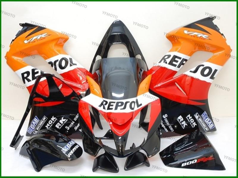 Мотоцикл компании Repsol красный оранжевый Зализа Кузов Коулинг для х О Н Д А VFR800 ПВП 800 2002-2007 03 04 05 06 +4 подарок