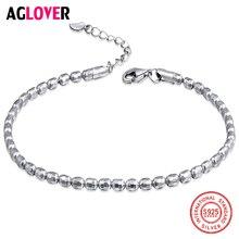 925 Sterling Silver Customized Minimalist Fine Sweet Bead Bracelets Female Temperament Women Charm Jewelry