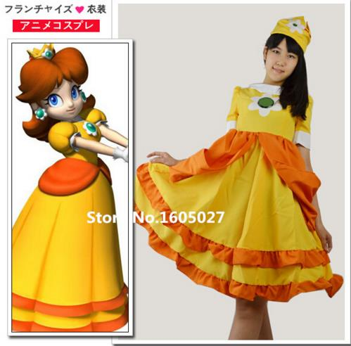 Online Buy Wholesale super mario costumes princess daisy from ...
