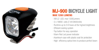 MagicShine MJ900 1200 Lumen LED Bike Light including battery