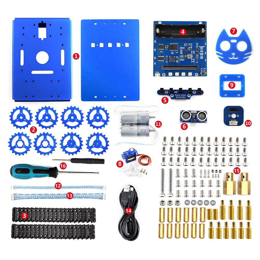 Waveshare KitiBot tracked robot building kit for micro bit no micro bit