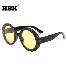 c3524a4c70 HBK populares grandes del marco redondo colorido gafas de sol de marca de  moda rayas del arco iris gafas de sol hombres mujeres .
