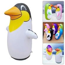 Outdoor Fun And Sports 36cm Inflatable Penguin Toys Soft Plastic Tumbler Inflatable Penguin For Children Play