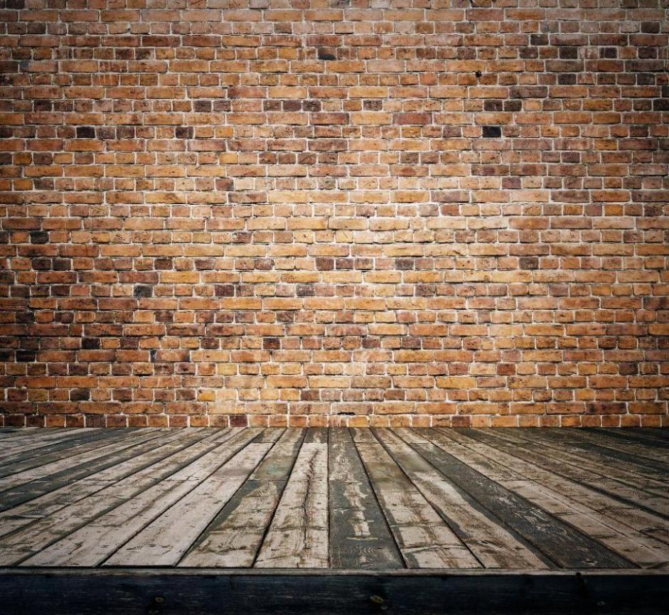 벽돌 벽 보드 나무 바닥 배경 비닐 천 고품질 컴퓨터 인쇄 벽 배경
