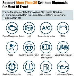 Image 3 - Xtuner t1 caminhão resistente diagnóstico scanner abs airbag dpf obd2 scanner para caminhões diesel obd ferramenta de verificação de diagnóstico + tablet