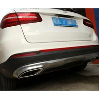 1pc Car Styling Car Rear Bumper Cover Stainless Steel Sticker For Mercedes Benz GLC Class Benz
