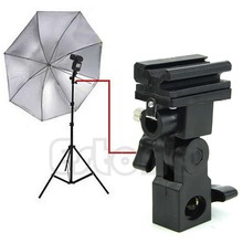 Adaptador de zapata para Flash tipo B, soporte de paraguas con disparador, soporte giratorio de luz