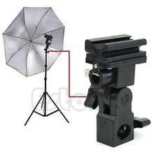 B Type Flash Hot Shoe Adapter Trigger Umbrella Holder Swivel Light Stand Bracket