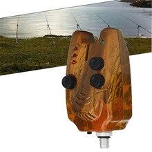 4 LED Sound-light alarm High Sensitivity Fish Bite Electronic Alarm Bell Lightweight Water Resistant Fishing Throwing Rod M20
