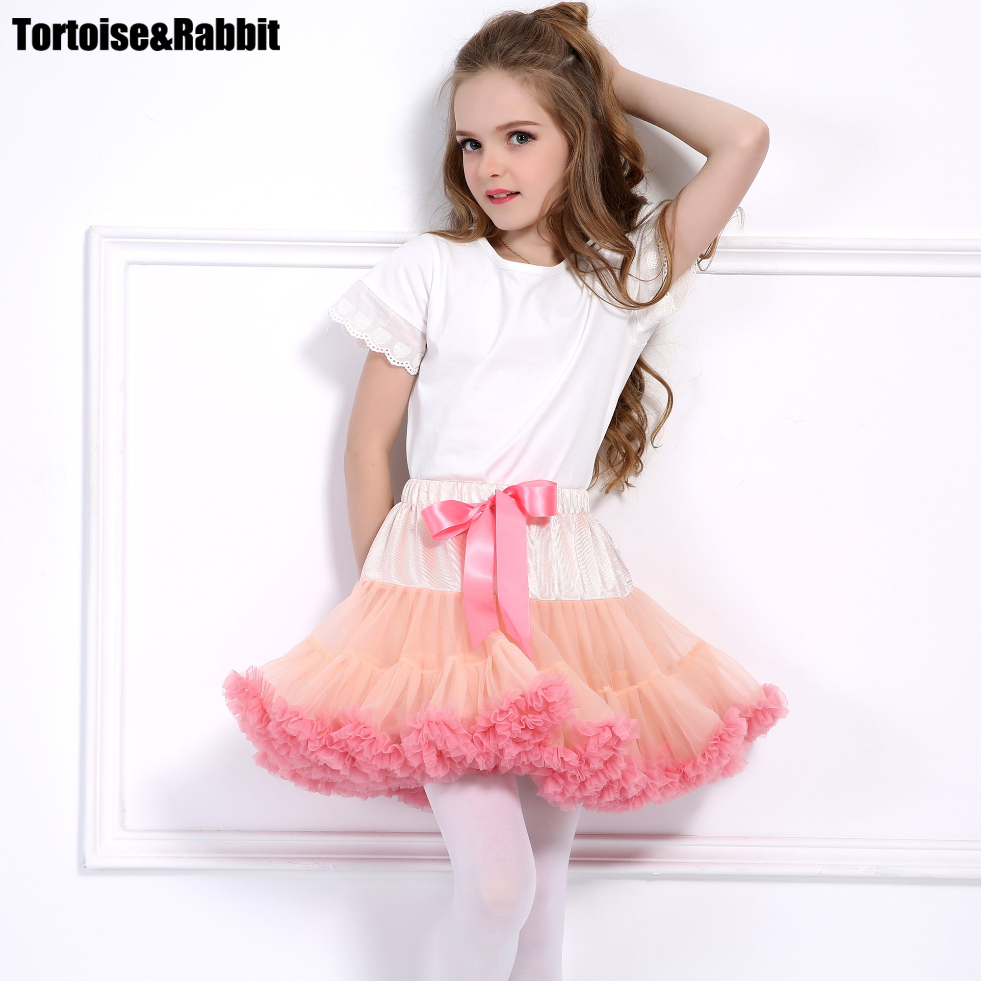 2pcs Baby Girls Tutu Skirts + Headband Fluffy Kids Pettiskirts Children Clothes Princess Dance Party Tulle Petticoat Wholesale