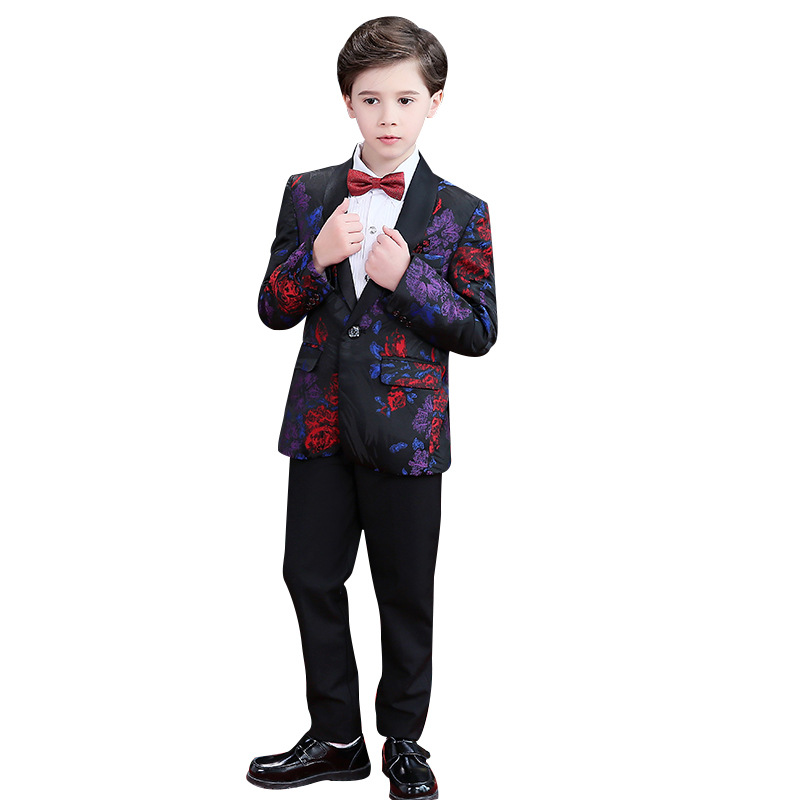 Children s Formal Dress suit Sets Flower boy Blazer Pants Outfits Kids piano performance Wedding Party