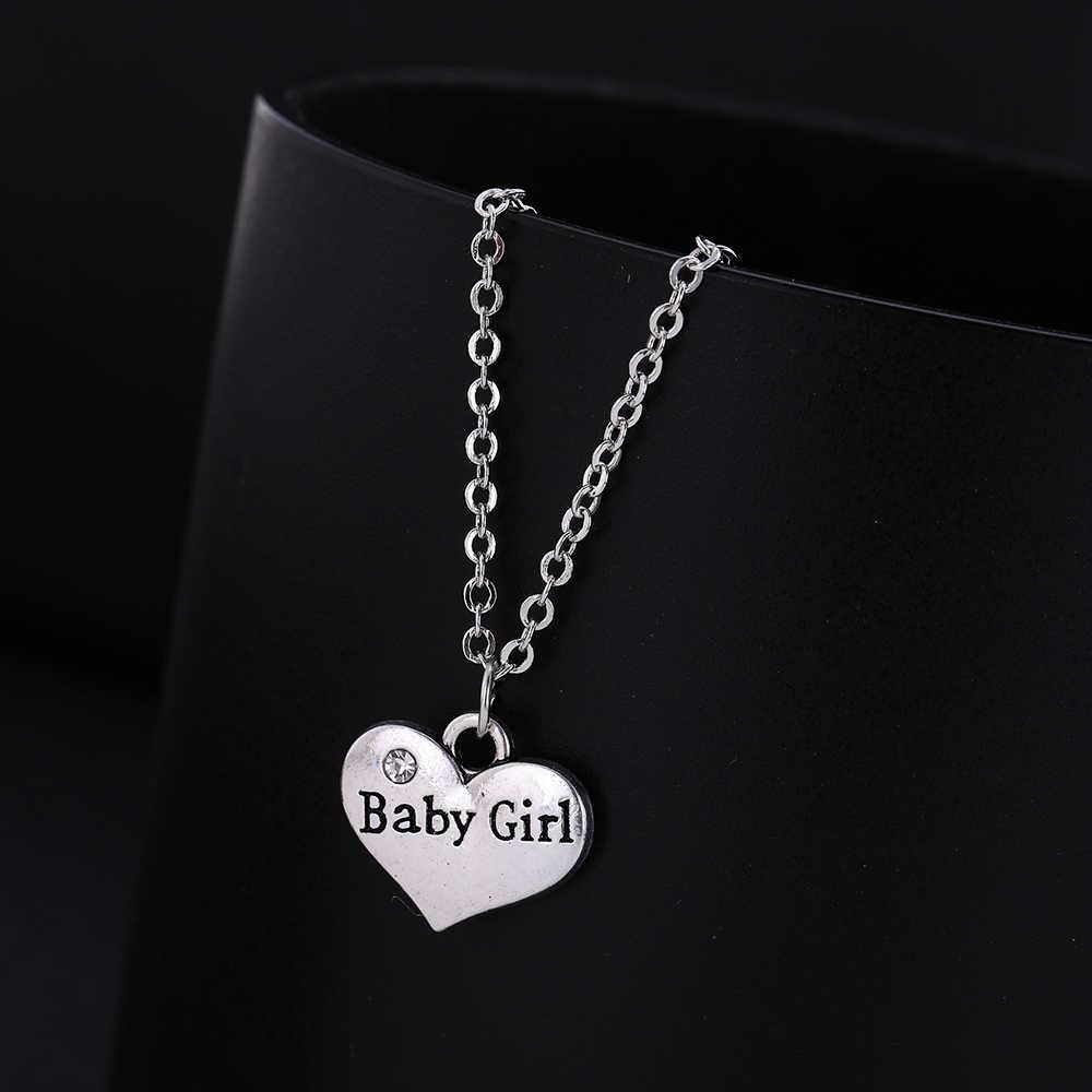 Dawapara 2019 date membre de la famille bébé fille coeur pendentif réglable collier et Bracelet pour femmes ensemble de bijoux SMCAH110246
