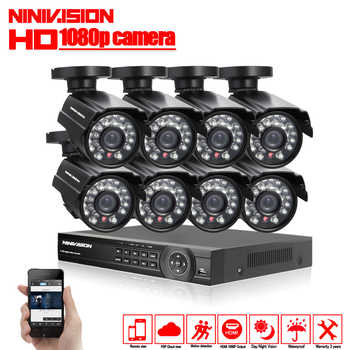 1080P 8CH CCTV Security System 8 channel HDMI AHD NVR DVR HD 2.0MP outdoor indoor bullet Camera kit Video Surveillance System - DISCOUNT ITEM  36% OFF All Category