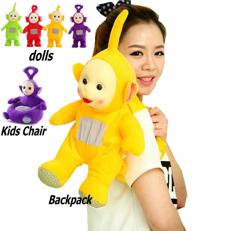 Teletubbies enfants apprendre chaise bébé poupée Tele tubbies tinky winky Dipsy Laa Po film peluche 3D Silicone visage jouets pour enfants - 2