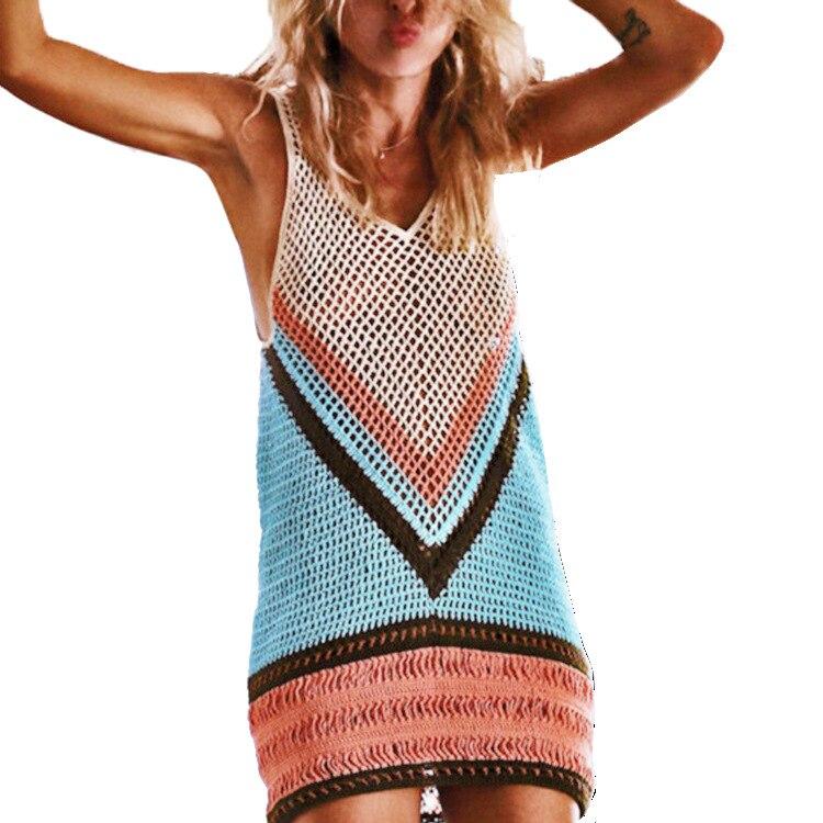 Women 100% Handmade Crochet Tunic Beach Cover Up Beach Dress Beachwear Female Plus Large Size Secret Cover ups