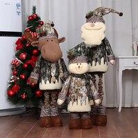 Navidad 2018 Christmas Dolls Large Retractable Santa Claus Snowman Xmas Toys Creative Kids Christmas Gifts Christmas Decorations