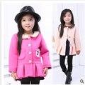 Бесплатная доставка новый 2015 хан издание пространство хлопок детская одежда девочки пальто детей цю дон пункт кардиган