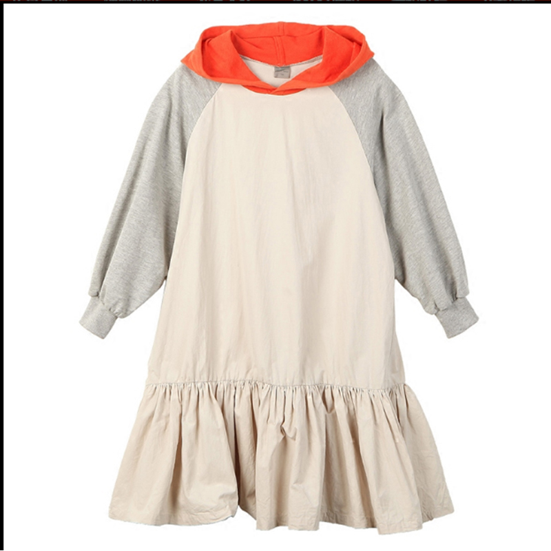 NNGZ kids girl Hoodies 2019 Fashion kids fancy girl dress Spring Long Sleeve Sweatshirts Hooded Dress  For Kids Children clothes