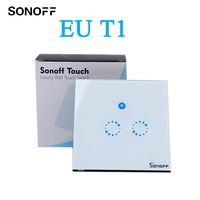 Sonoff T1 Smart Switch Panel EU 1 2 Gang Wireless Wall Smart Touch ON OFF Plate