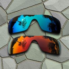 105f0dc83a Cielo azul y rojo naranja gafas de sol polarizadas lentes Oakley Batwolf