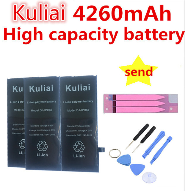 4260mAh polimerowa wymiana baterii dla Apple iPhone 6sp baterii dla iPhone 6s 6p 7 7p baterii prezent narzędzia + naklejki