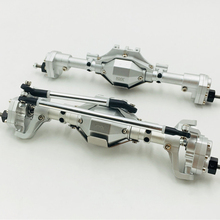 цена на High quality aluminium alloy cnc technology front axle and rear axle set assembly for 1/10th scale axial scx10 90046 cherokee