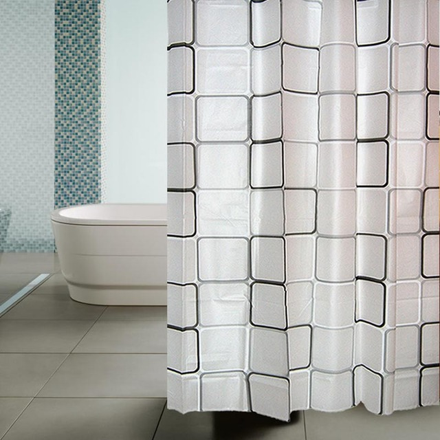 Bestselling Modern Bathroom Shower Curtains WhiteBlack Plaid Bath Curtain Products