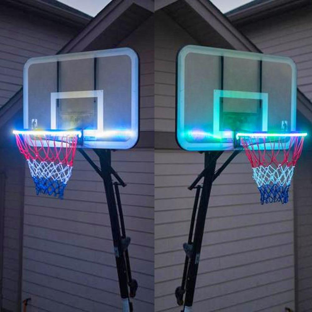 Systematisch Partij Decoratie Led Mand Hoepel Solar Licht Spelen 's Nachts Verlicht Basketbal Velg Attachment Helpt U Schieten Hoops 's Nachts K3 Rillingen En Pijnen