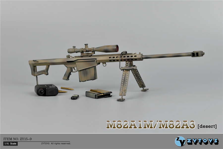 Brand New 1/6 Scale Weapon Model Toys Barrett M82A1/M200 Sniper Rifle Model For 12'' Action Figure Toy Accessories brand new 1 6 scale fast