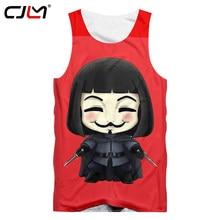 e42f42b50cb6 CJLM Red Tank Top Men Summer Tops 3D Print V For Vendetta Vest Homme Hip Hop  Sportwears Shirts Sleeveless Shirt Undershirts 5XL