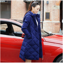 Korean Style New Fashion Women Winter Coat Elegant Hooded Thick Super Warm Down jacket Big yards Long Slim Leisure Coat G2257