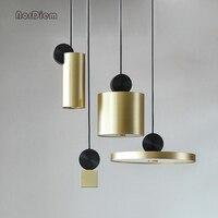 Nordic living room corridor restaurant geometry pendant lights Postmodern bar cafe model room designer pendant lamps