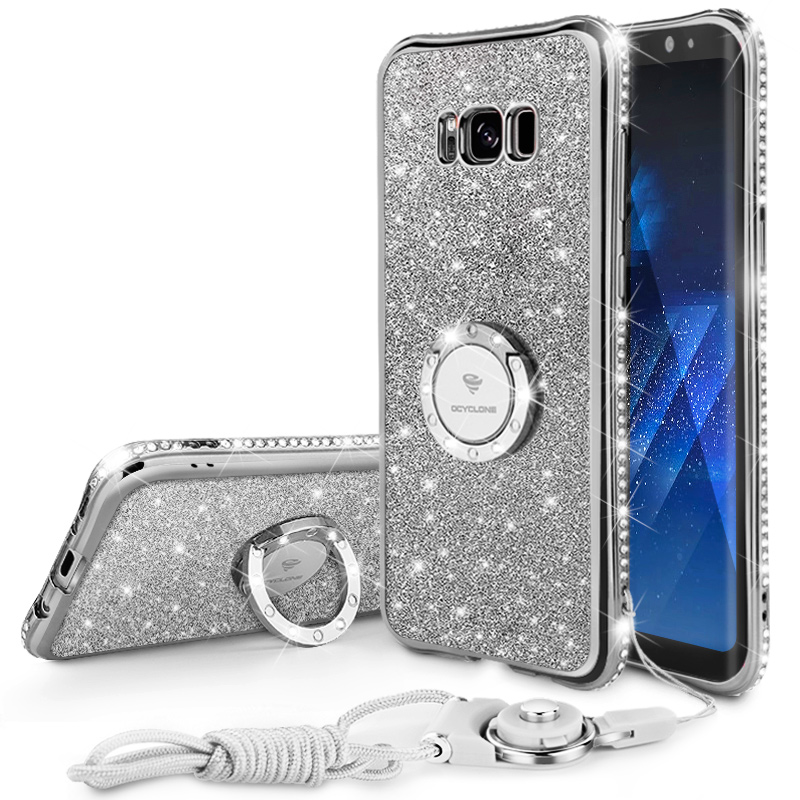 buy online bb15e 03835 US $8.49 |Protection Diamond Rhinestone Case For iphone 6 6S 7 7 plus For  Samsung Galaxy S8 S8Plus Case Ring Strap Cover Case-in Rhinestone Cases  from ...