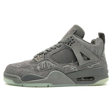 8a2a833174 Jordan Retro 4 hommes chaussures de basket-ball Kaws gris noir NRG coup de  poing