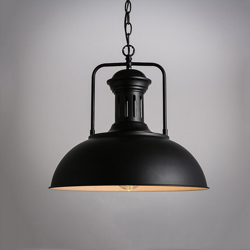 Nordic single head pendant lamp droplight, vintage iron lamp bedroom dining room cafe restaurant aisle retro loft pendant light