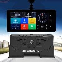 1080จุดHD 4กรัมWifiรถDVRกล้องAndroid 5.1นำทางจีพีเอADASการตรวจสอบระยะไกลกล้องแบบDual