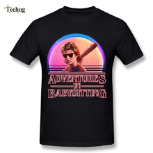 Popular Mens Stranger Things T Shirt Steve Harrington Graphic Cotton Print Fashionable Camiseta
