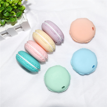 Happyfriends 1pcs Molar Teethers Pendant Toys Macaroon Shape Food Grade BPA Free Soft Silicone Baby Teether