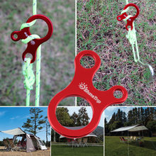 Quick Knot Tent Wind Rope Buckle 3 Hole Antislip Camping Tightening Hook free shipping(China)