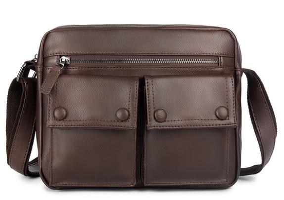 Vintage PU Leather Briefcase Exquisite Shoulder Business Bag Gentle Multifuntion Commuter Laptop Bussiness Bag Bolso Hombre D819