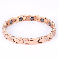 Classic female girls lady Charm Bangles Bridal Wedding Jewelry cubic zirconia rose gold color magnetic bracelets for women