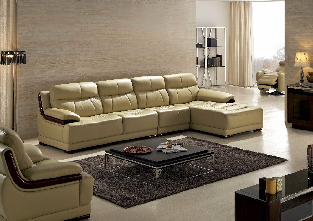 2019 Bean Bag Chair Style Modern Chaise Beanbag Armchair Hot Sale Italian Leather Corner Sofas For Living Room Furniture Sets