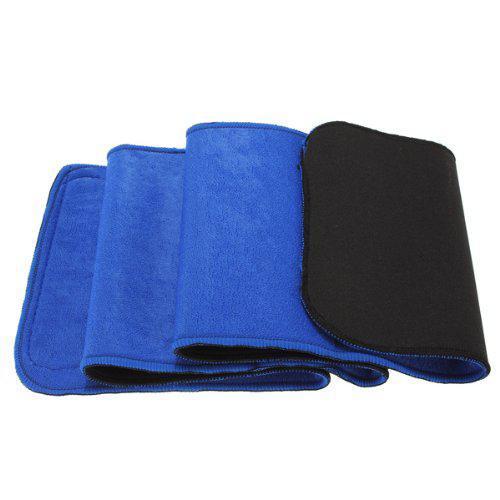 Mounchain Waist Trimmer Exercise Belt Slimming Burn Fat Sauna Sweat Weight Loss Wide Blue 1