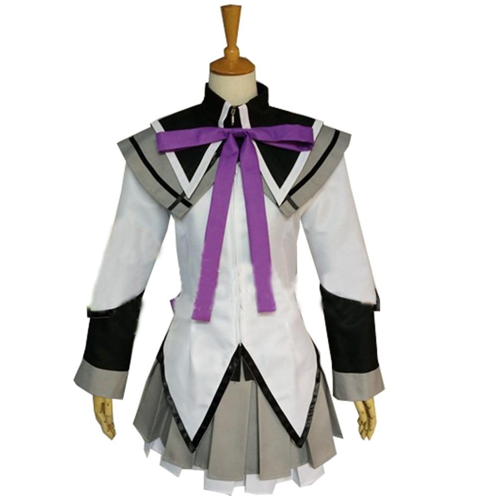 2018 Puella Magi Madoka Magica Homura Akemi Cosplay Costume Custom Party Dress Skirt Women Outfit