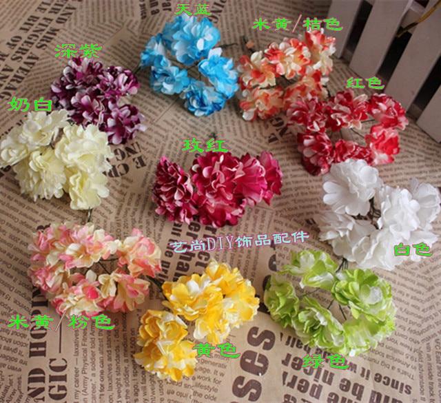 4CM Artificial Carnations Flowers,Glitter Carnation Tissue Paper ...