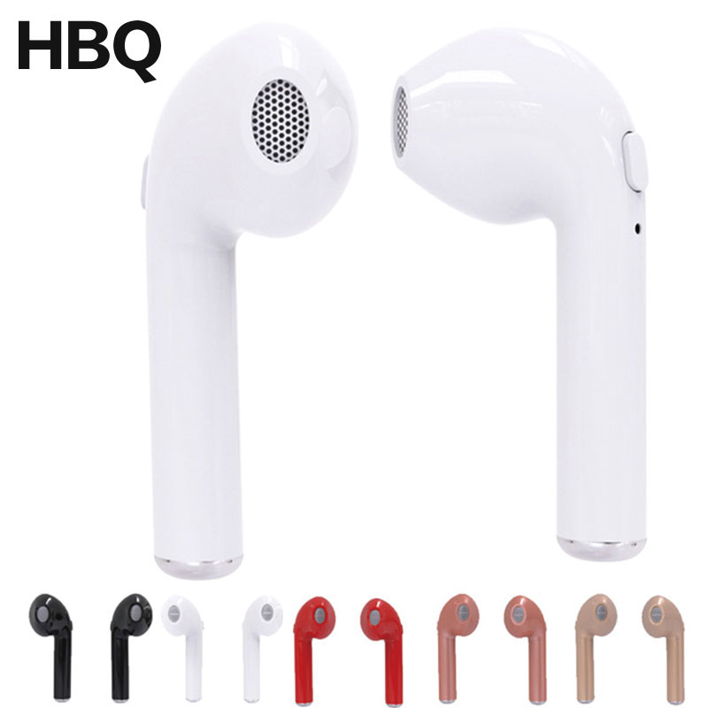 HBQ i7 TWS Bluetooth Headset Mini Wireless Earphone Binaural Twin Earbuds Stereo Mic For iPhone 7 X 8 i9s Samsung S9 Plus Xiaomi wireless headphones bluetooth earphone suitable for iphone samsung bluetooth headset 4 2 tws mini microphone