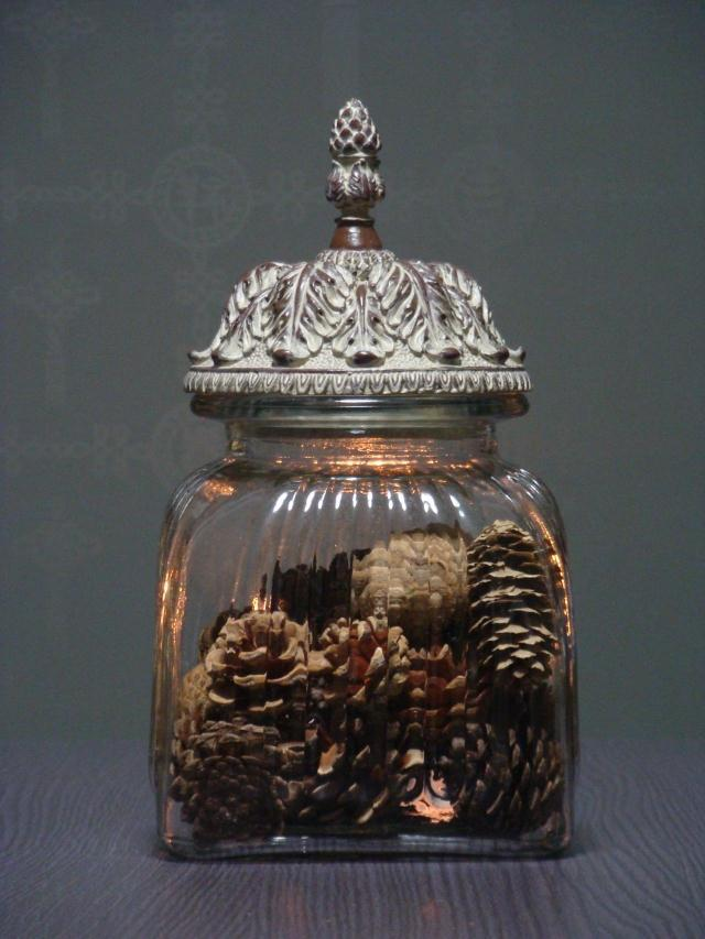 Large Glass Jars Decorative Custom French Rococo Large Square Glass Storage Jar Candy Jar Clothing Design Decoration