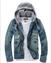 Hot ! Plus size New 2014 Spring Autumn Casual Mens Thin Jeans Jacket men Slim Cardigan Denim Jackets For Men Free shipping B0669
