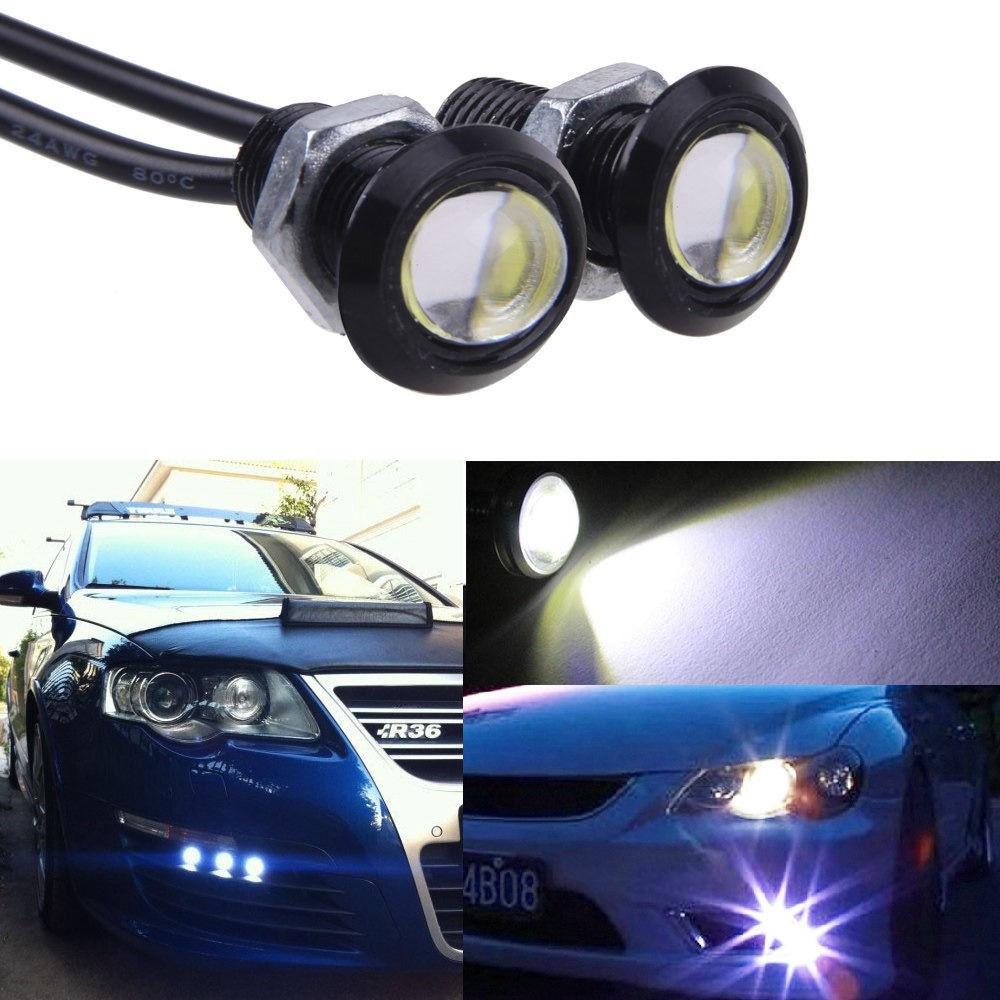 CQD-Light 1pcs 18MM Led Eagle Eye DRL Daytime Running Lights Source Backup Reversing Parking Signal Lamps Waterproof